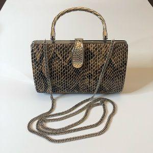 Handbags - Snake Skin Clutch Hard cover
